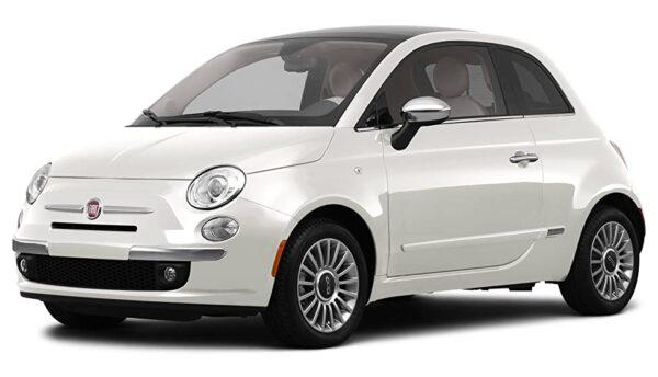 Fiat 500 ramen blinderen