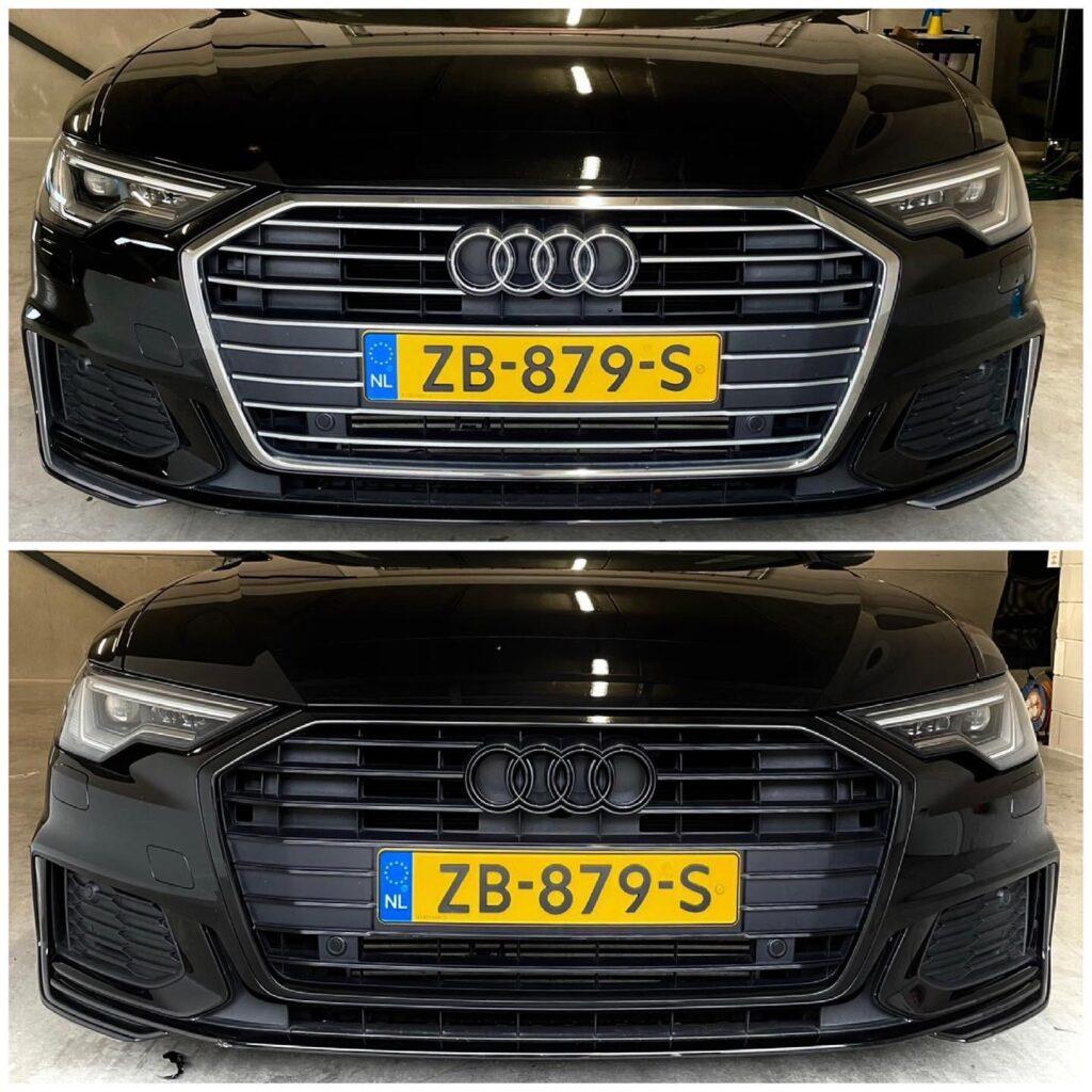 Audi ontchromen grill